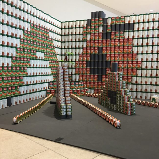 Canstruction Victoria Hungry Hungry Catipilar