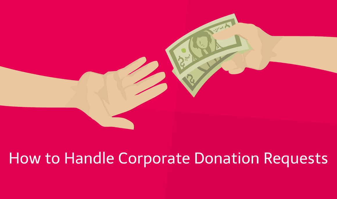 how to handle corporate donation requests