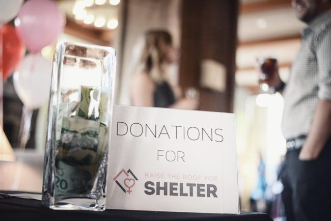 raise the roof for shelter donations