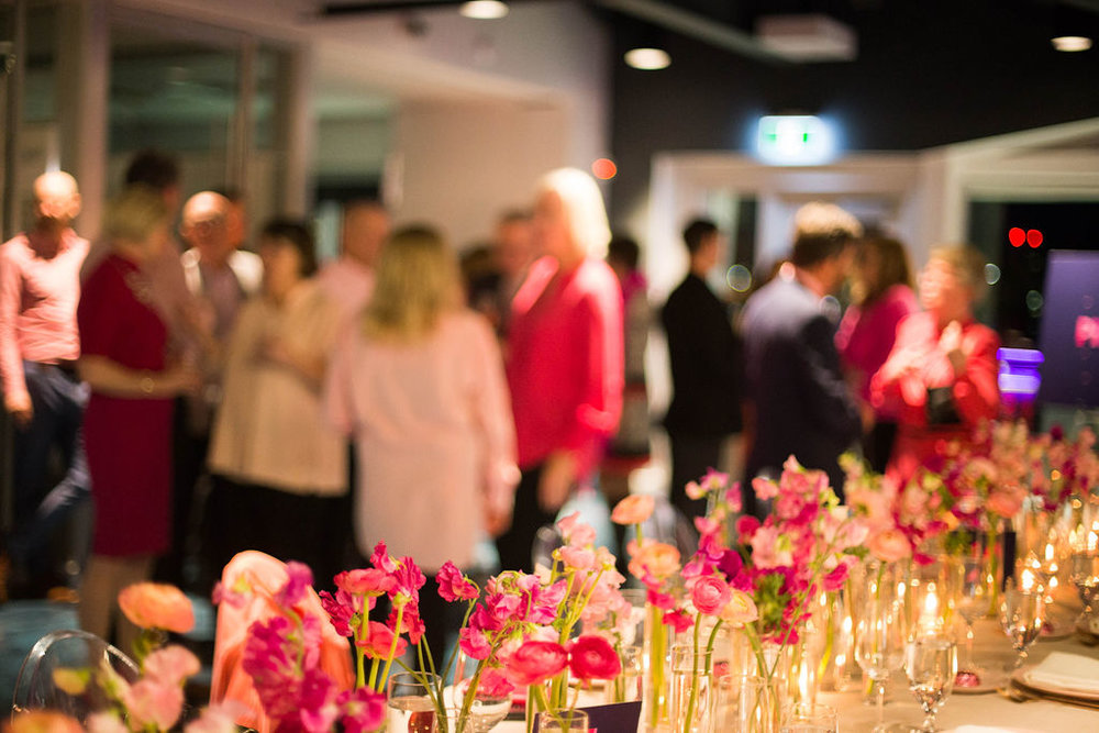 Flowers at the Pink Shirt Gala